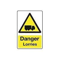 Rigid PVC Plastic Vehicle Hazards Sign Danger Lorries