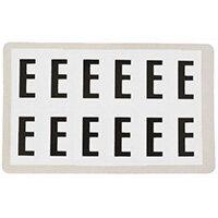 Adhesive Label Bin Sticker Letter E HxW 90x38mm Black Text On White