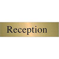 Brass Effect Prestige Range Sign Reception
