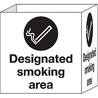 Cube Signs Smoking Area 200x200mm