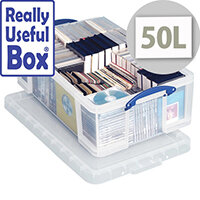 Really Useful Box Transparent Container 50 Litres Clear