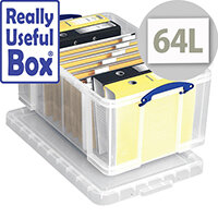 Really Useful Box Transparent Container 64 Litres Multi Box Clear