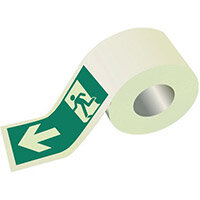 Photoluminescent Safety Way Guidance Direction Tape Wide 80mm x 10m Ref:SY310168
