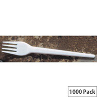 Disposable Cutlery Plastic Cutlery White Forks Pack 1000