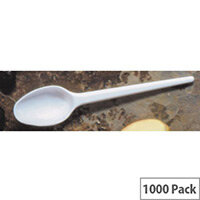 Disposable Cutlery Plastic Dessert Spoons Pack 1000