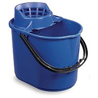 Economy Colour Coded Plastic Mop Bucket Blue Capacity 12L