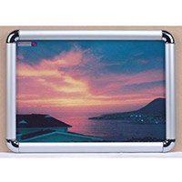 Chrome Corner Wall Mounted Snapframe A4