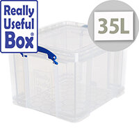 Really Useful Box 35 Litre Capacity Transparent Clear