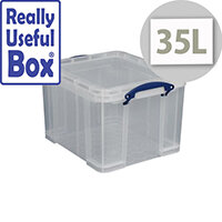 Really Useful Box Transparent Container 35 Litres Document Box
