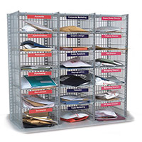 Mail Sorting Units 18 Compartment Kit 3 Columns x 6 915mm High Exact Compartment Type