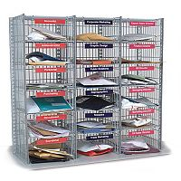 Mail Sorting Units 18 Compartment Kit 3 Columns x 6 915mm High Easy Sort Compartment Type
