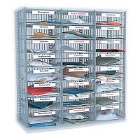 Mail Sorting Units 24 Compartment Kit 3 Columns x8 1016mm High Easy Sort Compartment Type