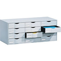 Desktop Filing Drawers 12 Drawer Unit 813mm To Fit Tambour Fp49001