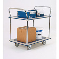 Two Tier Steel Service Trolley