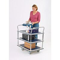 Three Tier Steel Service Trolley Capacity 300kg