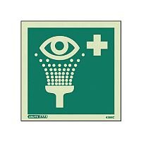 Photoluminescent First Aid Location Sign Eye Wash Facility HxW 150X150mm