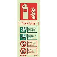 Sign-Fire Extinguish Aaa Foam Photo Lum 200X80mm Rigid