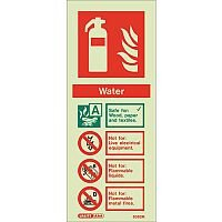 Sign-Fire Extinguish Aaa H2O Photo Lum 200X80mm Rigid