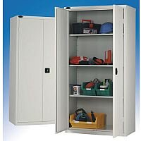 Standard Strong Industrial Cupboard Door Colour Grey H x W x D mm: 1780 x 915 x 460
