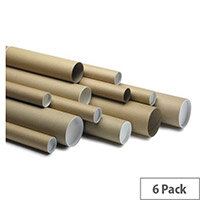 Postal Tubes 100mm Dia.x970mm Long Pack of 6
