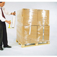 Clear Polyethylene Stretch Wrap 1 Carton 6 Rolls Medium Duty 17 Microns W400mm x 300m