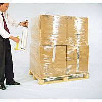 Clear Polyethylene Stretch Wrap 1 Carton 6 Rolls Heavy Duty 23 Microns W400mm x L300m