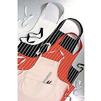 Cotton Drill Aprons Red With White Stripes