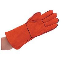 Red Lined Welders Gauntlets Pack of 10