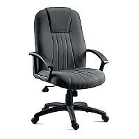 City Fabric Upholstered Executive Armchair Charcoal