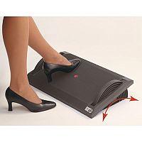 Height & Angle Adjust Footrest Black Each