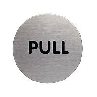 Stainless Steel Information Sign Pull