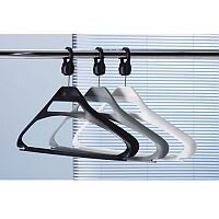 Round Tube Cloakroom Equipment Anti-Theft Hangers Pack Of 10