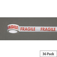 Message Tape Fragile Pack of 36