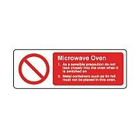 Self Adhesive Vinyl Food Processing And Hygiene Sign Microwave Oven