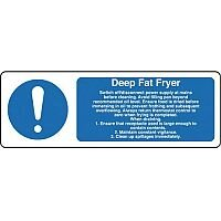 Self Adhesive Vinyl Food Processing And Hygiene Sign Deep Fat Fryer