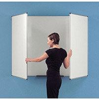 3 Panel Space Saving Whiteboard Magnetic