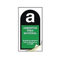Asbestos Safety Labels Asbestos Free Material Strip Of 20