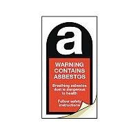 Asbestos Safety Labels Warning Contains Asbestos Strip Of 20