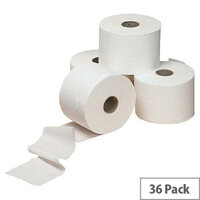 White Toilet Roll 320 Sheet 2 Ply Pack of 36