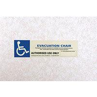 Luminescent Sign Evacuation Chair