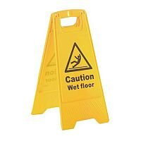 A Board Sign Caution Wet Floor