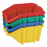 Large Storage Bin Complete With Opening Lid Sold Singly Choice Of Four Colours Yellow