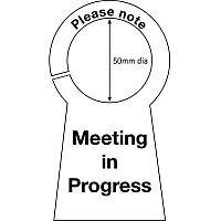 Sign Meeting In Progress