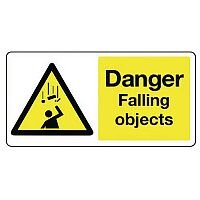 Large Sign Danger Falling Objects