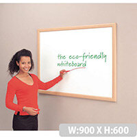 Eco-Friendly Whiteboard Aluminium Effect Frame 600X900mm