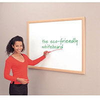 Eco-Friendly Whiteboard Light Oak Effect Frame 600X900mm