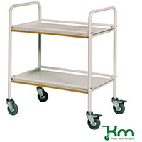 Service Trolley With Melamine Shelves Colour White Capacity 100kg