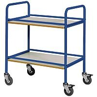 Service Trolley With Melamine Shelves Colour Blue Capacity 100kg