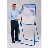 Ultimate Double-Sided Flipchart Easel And Whiteboard Blue