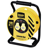 110V Industrial Trade Cable Reel 50 Metres Long With 2 Outlets
